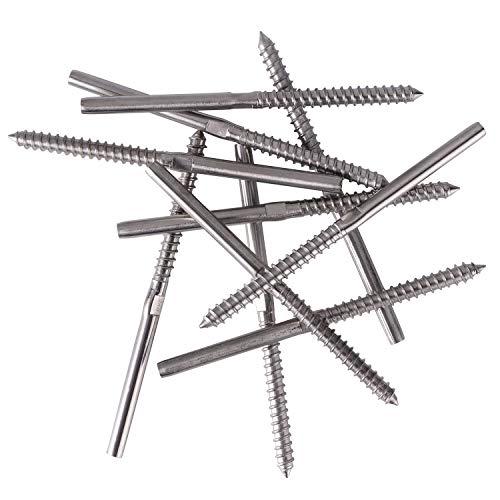 Senmit Lag Screw Stud Thread Fitting Terminal, 1/8