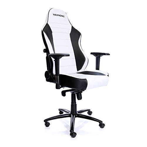 MAXNOMIC Commander S (BWE (Black/White)) Premium Gaming Office & Esports Chair