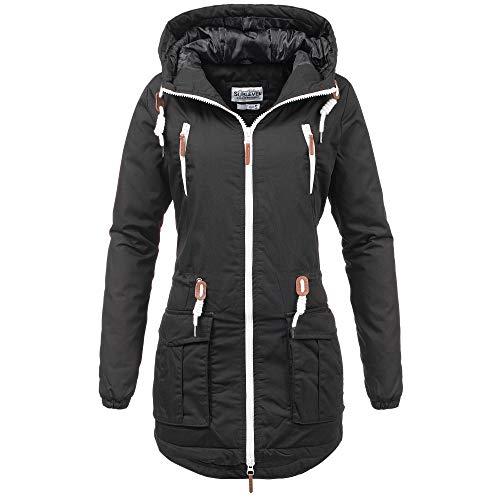 blouson Veste Capuche L Avec D'hiver Xl Sportif Outdoor Chaud S Parka Femme Sublevel M Noir Pour Fille Veste Y1XAnfF