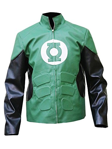 Gen1 Leathers Green Lantern Hal Jordan Ryan Reynolds Synthetic Leather Jacket - BNWT (L, Green) by Gen1 Leathers