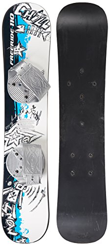 EMSCO Group – Graffiti Snowboard – Great for Beginners – For Kids Ages 5-15 – Design your Own Board Graphic – Solid Core Construction – Adjustable Step-In Bindings - Kids Snowboard Binding