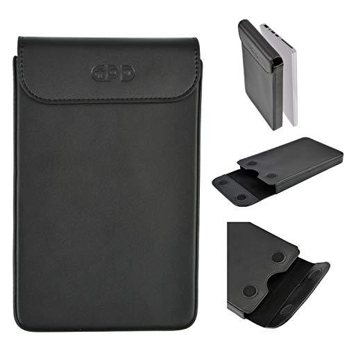 GPD Pocket2 Protective Black Leather Case Bag for 7 Inch Windows 10 System UMPC Mini Laptop Cover Kit for GPD Pocket 2