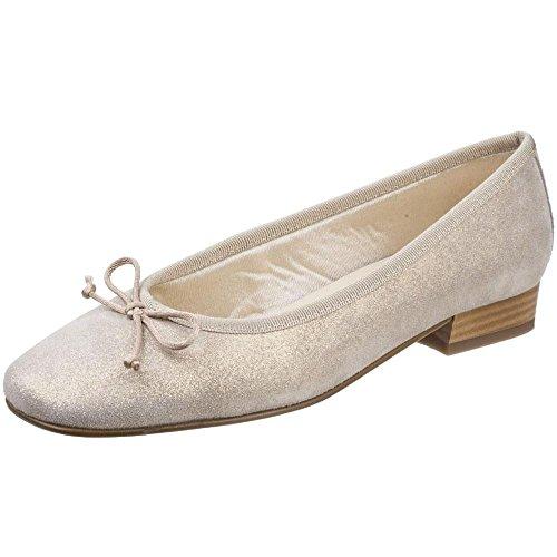in Ballerina Corte Womens Oro Ledro Calzatura RIVA Pelle H4BwXqU7