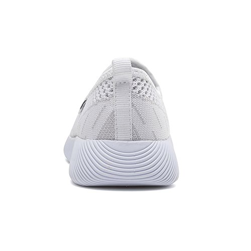 6301 Weight Go Walking Shoes Easy Slip Light Heel Women Flat On EnllerviiD White Mesh 7qUS6aE