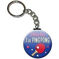 J'peux pas J'ai Ping Pong Club Sport Porte Clés Chaînette 3,8 centimètres Idée Cadeau Accessoire Humour Mytho Excuse