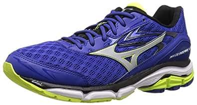 Mizuno Men's Wave Inspire 12 Running Shoe, Surf The Web/Silver, 7 D US