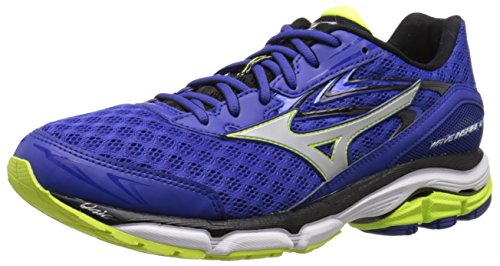 Mizuno Men's Wave Inspire 12 Running Shoe, Surf The Web/Silver, 7 D US