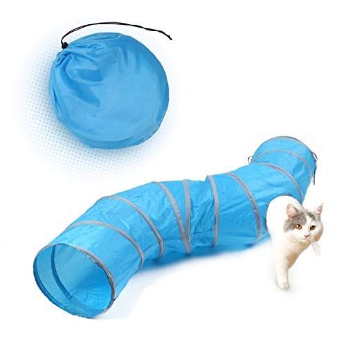 PAWZ Road Cat Toys S Way Cat Collapsible Tunnel for Fat Cat Upgraded Version 12