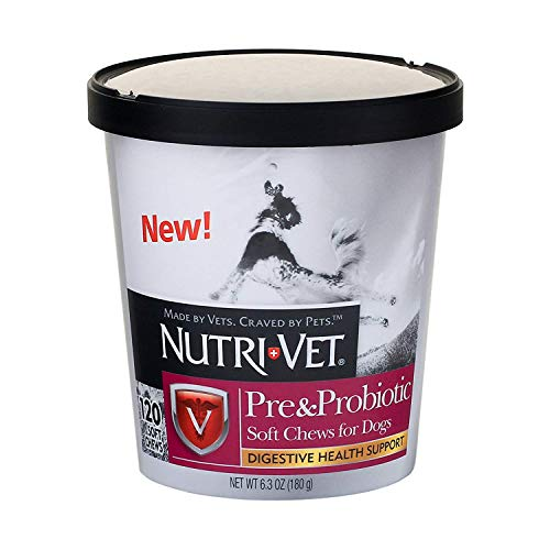 Nutri-Vet Pre and Probiotic Soft Chew, 120 Count (2 Pack)