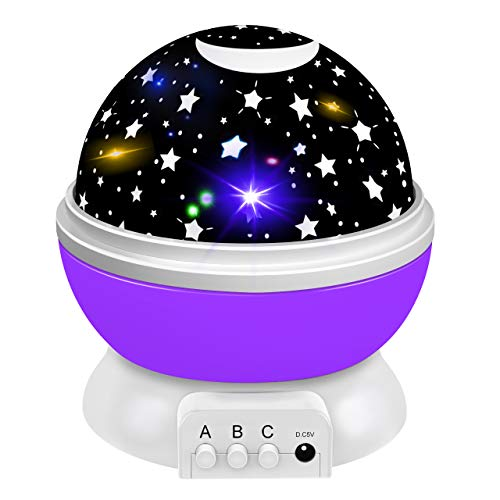Dreamingbox Toys for 1-10 Year Old Girls Boys, Star Night Lights Projector for Kids Magic Toys for 1-10 Year Old Boys Girls 2019 Birthday Xmas Gifts for Boys Girls Stocking Fillers Purple TGUSYD06 (2019 For New Lights Christmas)
