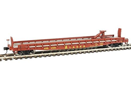Walthers-53' GSC Piggyback Service Flatcar - Ready to Run -- Alaska Railroad #12
