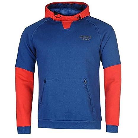 Lonsdale - Sudadera de deporte con capucha para hombre azul sudadera con capucha sudadera jersey Top Ropa deportiva, azul, medium: Amazon.es: Deportes y ...