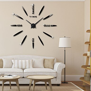 (JFFFFWI Wall Clock 3D DIY Stickers Wall Mirror, Roman Stickers Stickers Decoration of Acrylic Clock,)