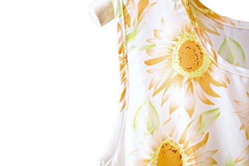 Dantiya KJGF02 Chiffon Casual Spring One Dresses Women's Flora Print pieces rzqgr1HZ