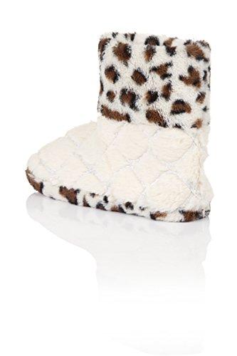 Dannii Matthews , Damen Hausschuhe Cream Leopard