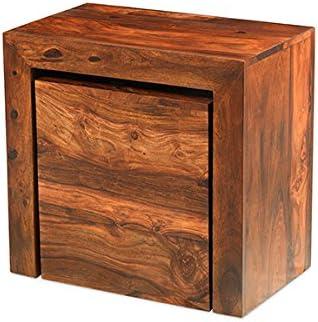 Cuba Sheesham Cube Juego de mesas Nido – Muebles: Amazon.es: Hogar