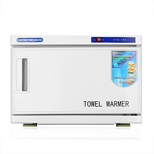 Flexzion 뜨거운 수건 온열 장치 내각 선반 - 전기 수건 히이터 온수 수건 가로장 저장 바구니 선반 옷장을위한 선반 옷장 온천장 목욕 비말/Flexzion Hot Towel Warmer Cabinet Rack - Electric Towel Heater Heated Towel Rail Storage Basket She...