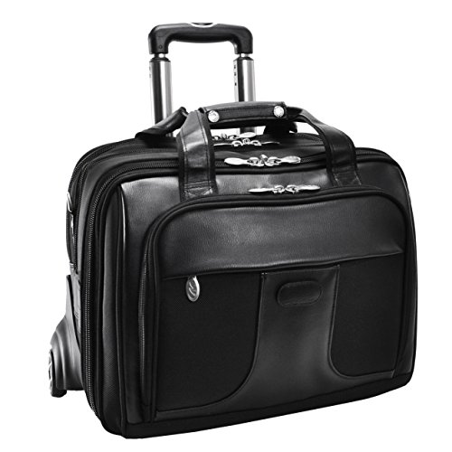 Overnighter Brief Bag (McKleinUSA CHICAGO 73585 Black 17 Detachable-Wheeled Laptop Overnight with Removable Brief)