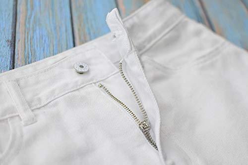 Falda Faldas Swovq Alta Rasgados Mezclilla De Cintura Mujer White Para Lápiz Irregulares Mujeres qgd4ngf