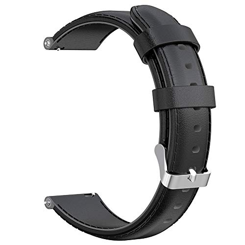 klGfF52rfu 24mm Oil Wax Leather Smart Watch Band Strap Replacement for Suunto 9/D5I/D5 Black