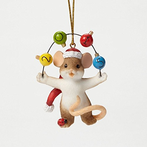 Enesco Charming Tails Annual Dated Ornament, -