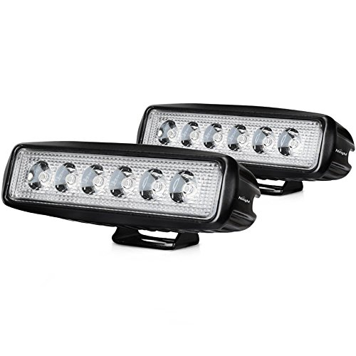 Price comparison product image LED Light Bar Nilight 2PCS 18w Spot Lights Led Pods Off Road Work Light Led Fog Lights Bar Driving led Lights Truck Jeep Lamp Boat Lights,2 years Warranty