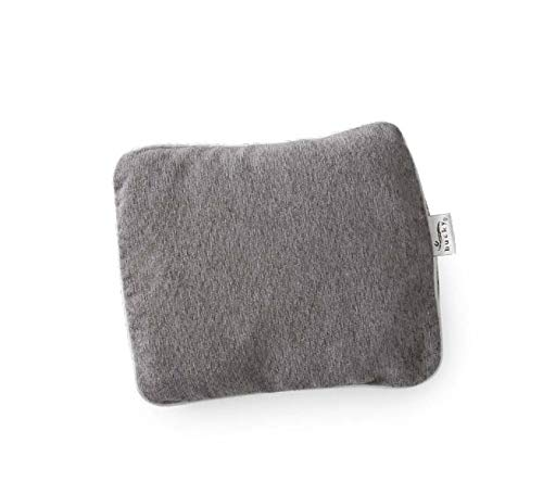 Bucky Compact Wrap, Hot/Cold Therapy, All Natural Buckwheat Seed Filling, Removable Cover, Adjustable Filling - Gray