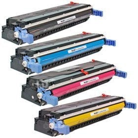 LD Remanufactured Replacement Laser Toner Cartridges for HP 645A 4 PK: 1 C9730A, C9731A, C9732A, C9733A for Color LaserJet 5500n, 5550hdn, 5500dtn, 5500, 5550dtn, 5500dn, 5550n, 5550, 5550dn, 5500hdn (5550hdn Colour)