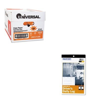 (KITREDS5031NCLUNV21200 - Value Kit - Rediform Driver's Daily Log (REDS5031NCL) and Universal Copy Paper (UNV21200))