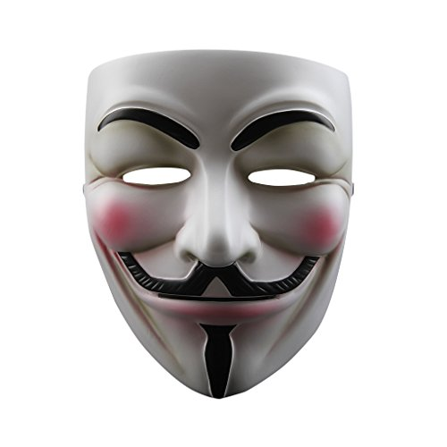 Floureon V for Vendetta Anonymous Guy Fawkes Resin Fancy Cool Costume Cosplay Mask for Parties, -