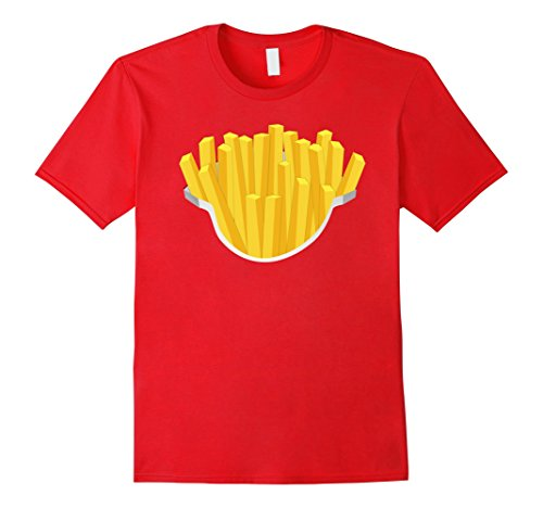 Mens French Fries Costume Shirt Salty Crispy Fry Fast Foodie Medium (Fast Halloween Costumes Last Minute)