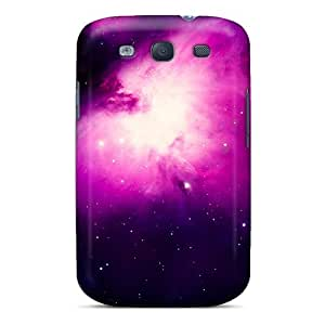 Shock-dirt Proof Stars On Purple Space Cases Covers For Galaxy S3