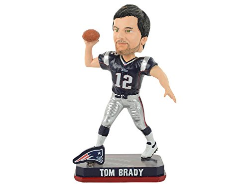 Tom Brady New England Patriots NFL 2014 Springy Logo Bobblehead Figurine by Forever Collectibles
