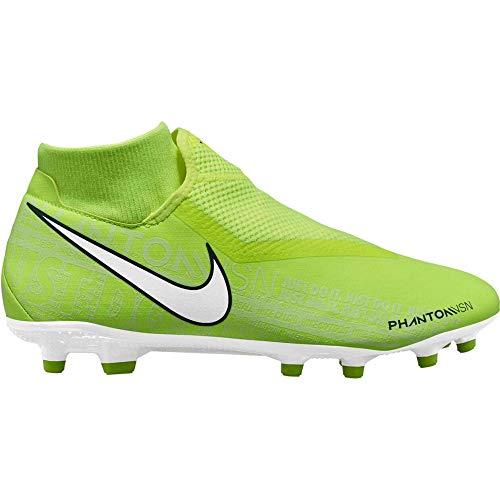 Nike Phantom Vision Academy Dynamic Fit MG Multi-Ground Soccer Cleat (6.5, Volt/Volt/White)