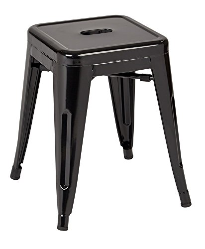"""Price comparison product image Work Smart / OSP Designs Patterson 18"""" Metal Backless Stool In Solid Finish (4 Pack),  Black"""