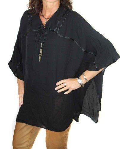 Diesel Femmes Tunique Chemisier Soie Chichsa Noir