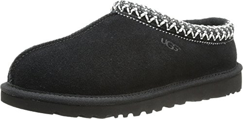 UGG Women's Tasman Black Suede Slippers, 10 B US