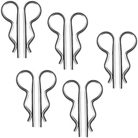 Silver Almencla 10Pcs 304 Stainless Steel R Clip 1.6x32mm