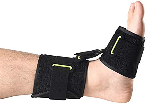Ankle Support AFO Drop Foot Brace (1 Piece) – Pain Relief Plantar Fasciitis Splints Orthotics Corrector, Adjustable Assist Strap for Improved Walking Gait, Prevents Cramps Ankle Sprains