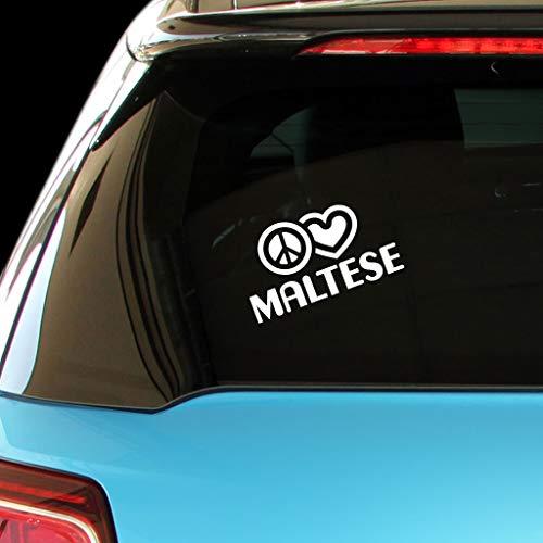 - PEACE LOVE MALTESE Dog Dogs Car Laptop Sticker Decal