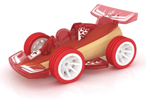 Hape Racer Bamboo Toy Car Kid's Wooden Play Vehicle (Race Car Wooden)