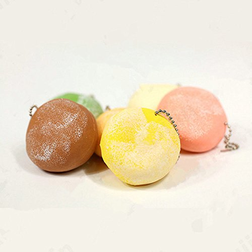 NEW Squeeze Mochi Stress Squishy Scented Stretchy Toy Ball Chain (Cute Mushroom Costume)