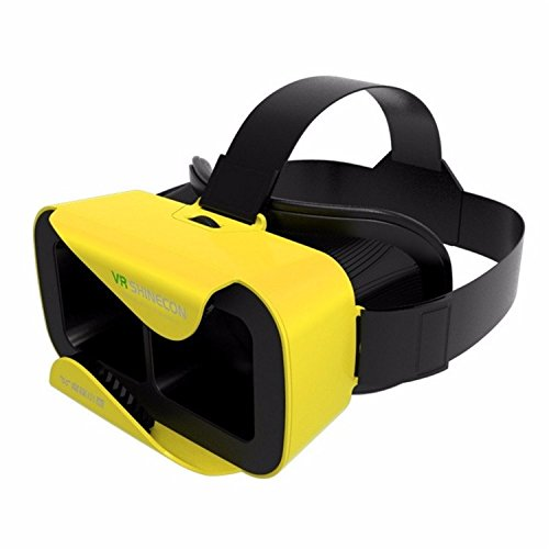 Globalvr VR Shinecon III 3.0 Mini Virtual Reality 3D Glasses Google VR Helmet BOX Game Video Headset For 4.7-6 inch Phone (YELLOW)