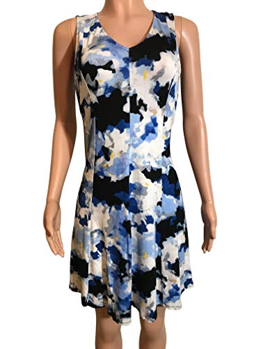 Chelsea & Theodore Womens Size Small Sleeveless Dress, Cloud Bouquet