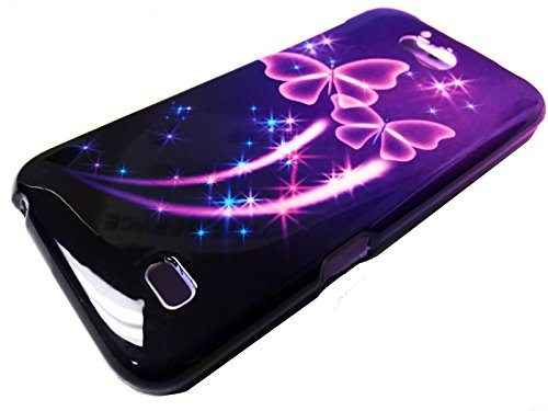 FastSun Hard Design Snap On Phone Cover Case For ZTE Atrium Z793C Scend LTE Z791 (Purple Butterfly)