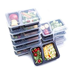 (14 Pack) High Quality 1, 2 or 3 Compartment Meal Prep Containers – with Sauce/Dressing Tubs – Food Boxes, Portion… Amazon choices [tag]