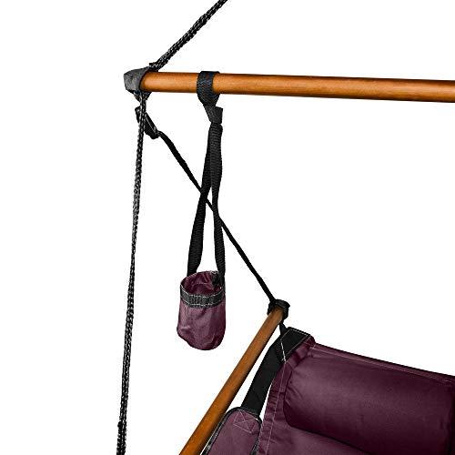 Hammaka Hanging Hammock Air Chair, Wooden Dowels, Burgundy