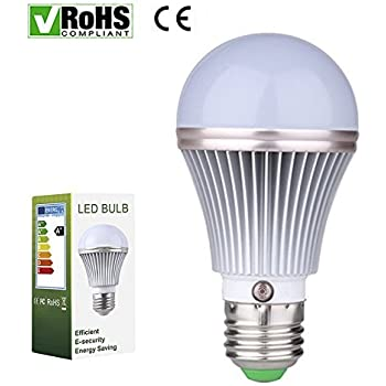 E27 5W LED Dusk To Dawn Sensor Light Bulbs [Aluminum] Built In Photosensor  Detection Auto Switch Light 3000K Warm White Indoor/Outdoor Lighting Lamp  For ...