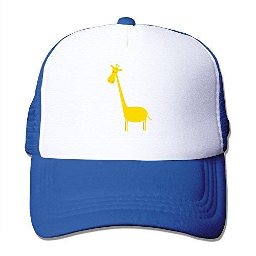 Mens Adjustable Hat Giraffe Yellow
