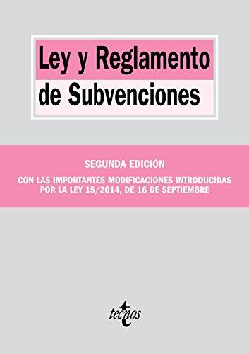 Descargar Libro Ley Y Reglamento De Subvenciones Editorial Tecnos